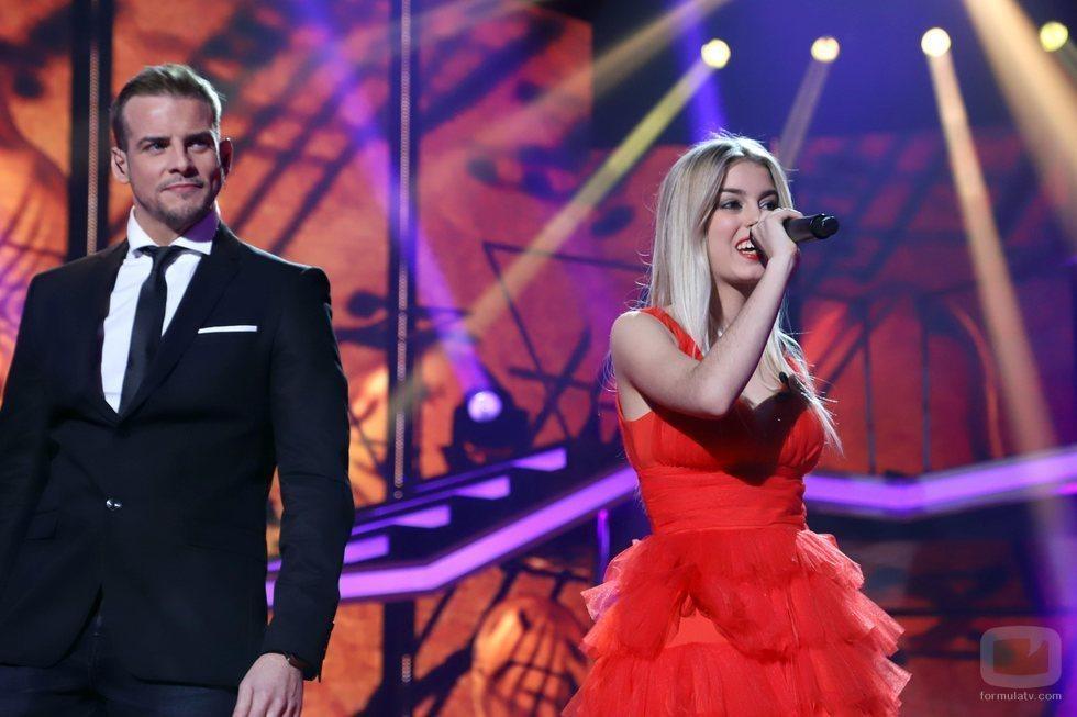 Àlex Casademunt canta junto a Nerea Rodríguez en 'OT 2017'