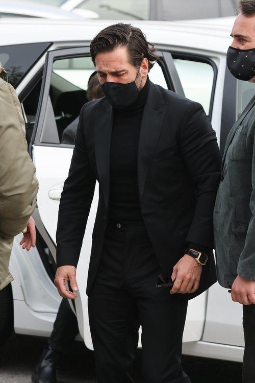 David Bustamante asiste al funeral de Àlex Casademunt