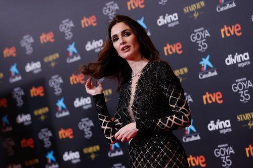 Paz Vega en la alfombra roja de los Premios Goya 2021