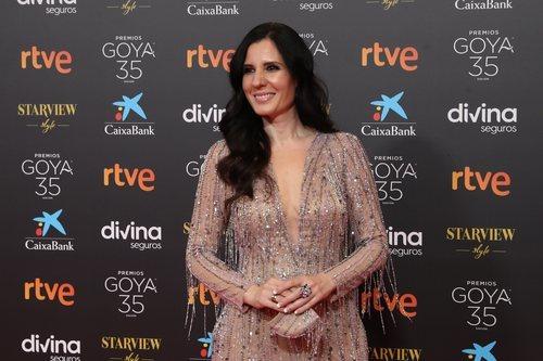 Diana Navarro en la alfombra roja de los Premios Goya 2021