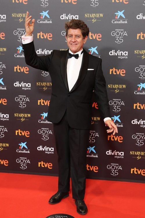 Pedro Casablanc en la alfombra roja de los Premios Goya 2021