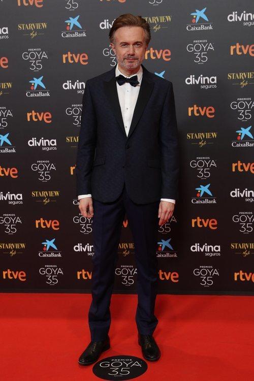 Tristán Ulloa en la alfombra roja de los Premios Goya 2021