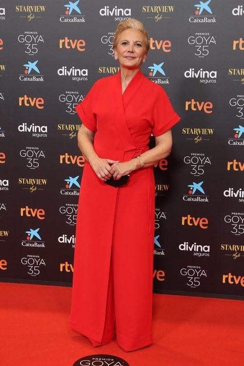Elena Irureta en la alfombra roja de los Premios Goya 2021