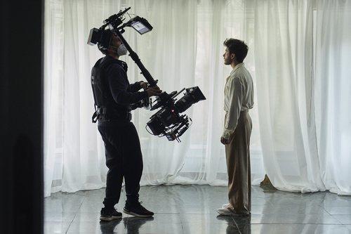 """Blas Cantó durante la grabación del videoclip """"Voy a quedarme"""""""