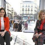 Isabel Díaz Ayuso y María Teresa Campos en 'La Campos Móvil'