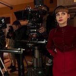 Aura Garrido rodando 'Un asunto privado'