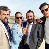 Paco Tous, Pepón Nieto, Michelle Jenner y Mario Casas en el rodaje de la décima temporada de 'Los hombres de Paco'