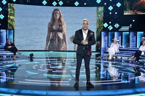 El plató sin público de 'Supervivientes 2021', durante la primera gala de la edición
