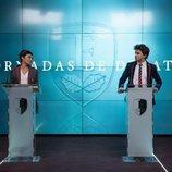 Carla Díaz e Itzan Escamilla en la cuarta temporada de 'Élite'