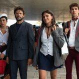 Carla Díaz, Diego Martín, Martina Cariddi y Manu Ríos en la cuarta temporada de 'Élite'