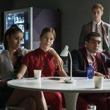 Rebeca, Cayetana y Omar en la cuarta temporada de 'Élite'