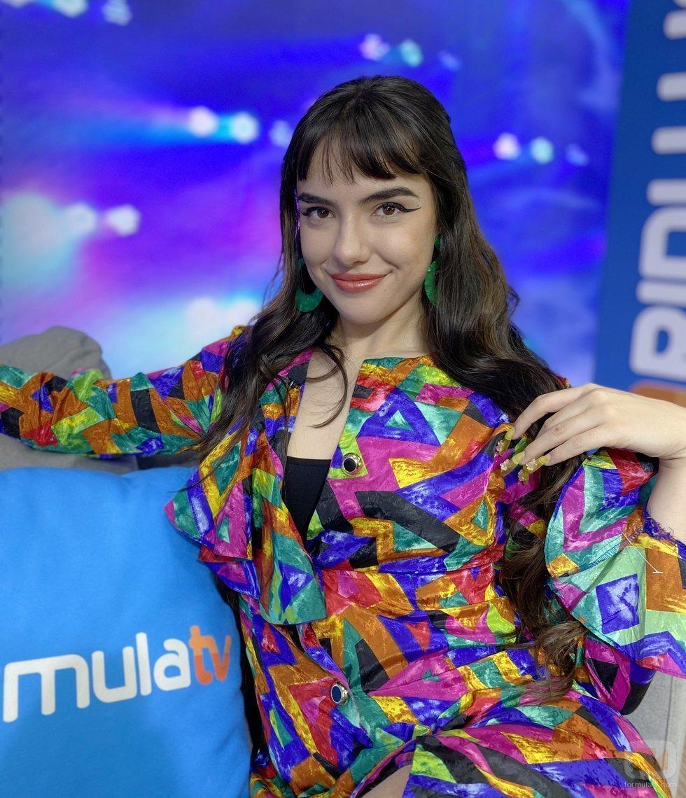 Marta Sango en el plató de FormulaTV