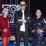 Danna Paola, Risto Mejide e Isabel Pantoja, el jurado de 'Top Star. ¿Cuánto vale tu voz?'