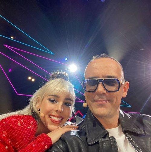 Risto Mejide y Danna Paola en el plató de 'Top Star. ¿Cuánto vale tu voz?'