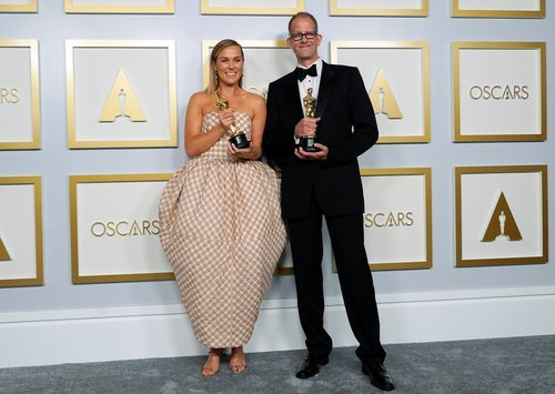 Dana Murray y Pete Docter, ganadores de la Mejor Película de Animación de los Oscar 2021