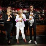 Carlota Corredera, Belén Esteban y Raúl Prieto en la presentación de Sabores de la Esteban
