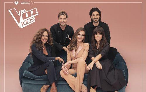 Eva González, Vanessa Martín, Rosario Flores, Melendi y David Bisbal en 'La Voz Kids 2021'