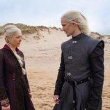 Emma D'Arcy y Matt Smith como Rhaenyra y Daemon Targaryen en 'La casa del dragón'