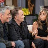 Matt LeBlanc, Matthew Perry, Jennifer Aniston, Courteney Cox y Lisa Kudrow, en el reencuentro de 'Friends'