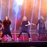 Blind Channel, representantes de Finlandia, en la final de Eurovisión 2021