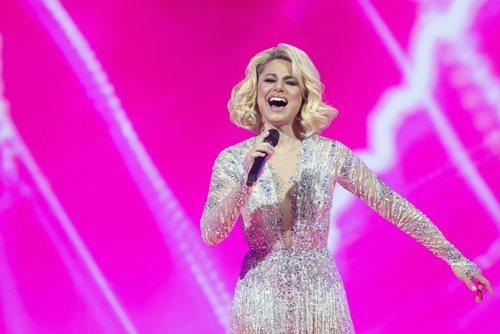 Natalia Gordienko, representante de Moldavia, en la final de Eurovisión 2021