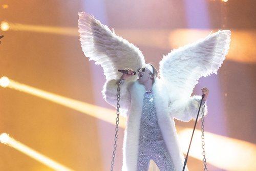 TIX, representante de Noruega, en la final de Eurovisión 2021