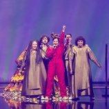 Manizha, representante de Rusia, en la final de Eurovisión 2021