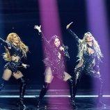 Hurricane, representantes de Serbia, en la final de Eurovisión 2021
