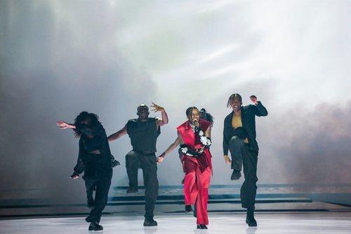Tusse, representante de Suecia, en la final de Eurovisión 2021