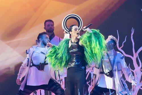 Go_A, representantes de Ucrania, en la final de Eurovisión 2021