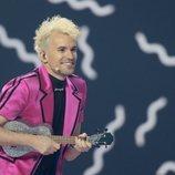Jendrik, representante de Alemania, en la final de Eurovisión 2021