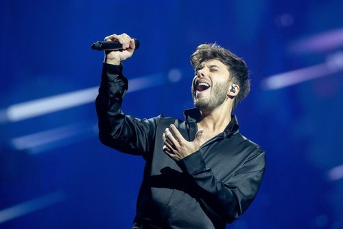 Blas Cantó, representante de España, en la final de Eurovisión 2021