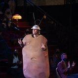 Justin Bieber en 'Friends: The Reunion' con el disfraz de patata Spudnik