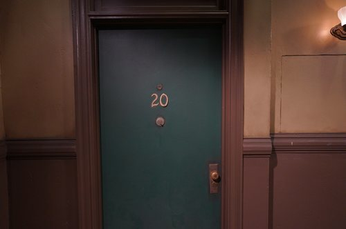 Puerta del apartamento de Monica Geller en 'Friends: The Reunion'