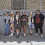 Jacobo Camarena, Alba de Ángel, Son Khoury, Claudia Licari, Leonor Pernas y Manuel Soler en la segunda temporada de 'HIT'