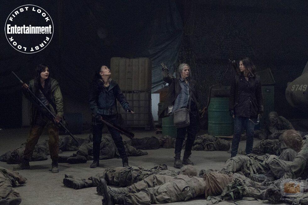 Christian Serratos, Cassady McClincy, Melissa McBride y Lauren Cohan en la undécima temporada de 'The Walking Dead'
