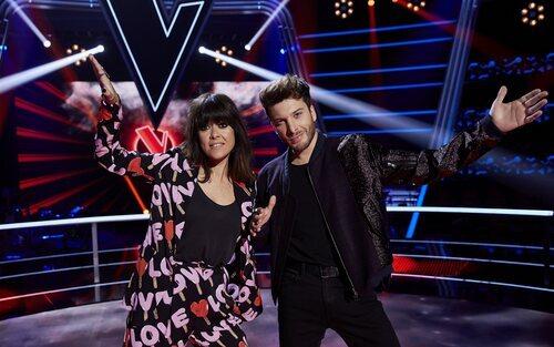 Blas Cantó con Vanesa Martín en 'La Voz Kids'