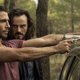 Moisés y Romeo en la segunda temporada de 'Sky Rojo'