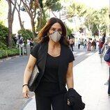Raquel Bollo, en el tanatorio por la muerte de Mila Ximénez