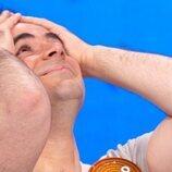 Pablo Díaz se lleva las manos a la cabeza tras ganar el bote de 'Pasapalabra'