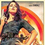 La actriz Verónica Sánchez en un cartel promocional de la serie 'Sky Rojo'