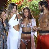 Olga Moreno, Melyssa y Gianmarco con Lara Álvarez en la final de 'Supervivientes 2021'