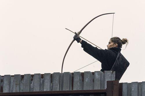 Nadia Hilker en la temporada 11 de 'The Walking Dead'