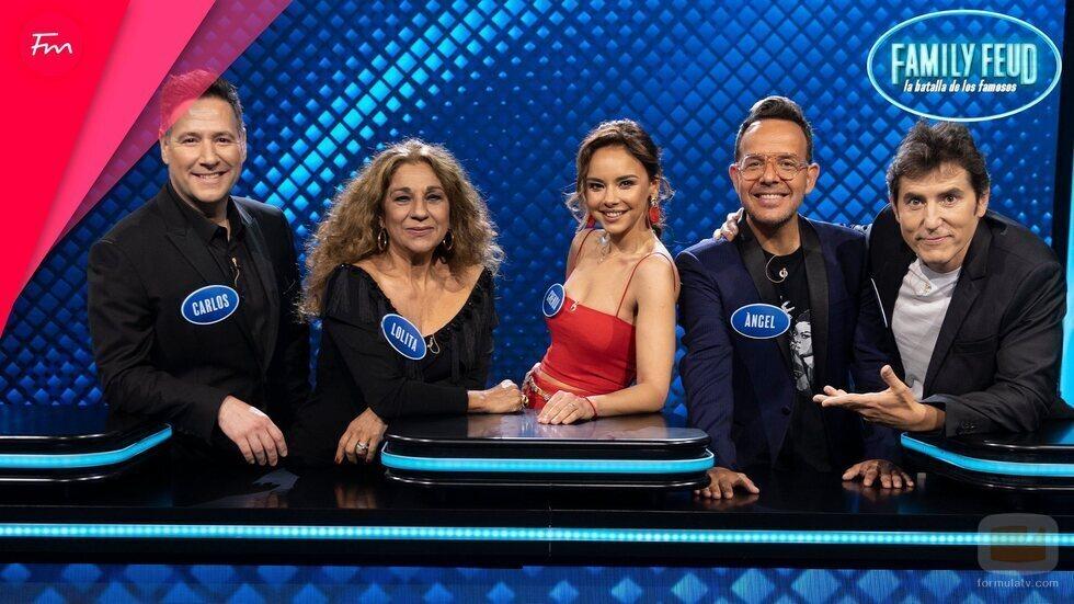 El equipo de 'Tu cara me suena' en 'Family Feud: La batalla de los famosos'
