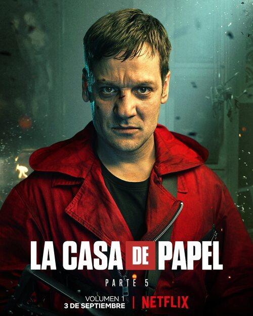 Póster de Palermo (Rodrigo de la Serna) en la Parte 5 de 'La Casa de Papel'