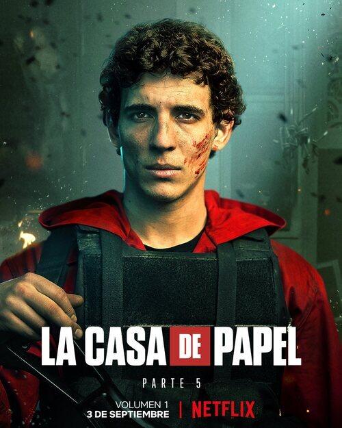 Póster de Río (Miguel Herrán) en la Parte 5 de 'La Casa de Papel'