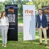 Lara Siscar y y Diego Losada en la presentación de la temporada de Informativos 2021-2022 de RTVE