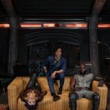 Faye Valentine, Spike Spiegel y Jet Black en 'Cowboy Bepop'