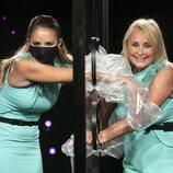 Alba Carrillo y Lucía Pariente en 'Secret Story', durante la gala 1