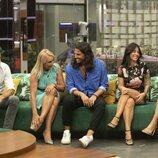 Canales Rivera, Lucía Pariente, Luca Onestini, Fiama Rodríguez y Cynthia Martínez, en la gala 1 de 'Secret Story'